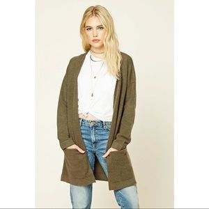 Olive Gray Forever 21 Cardigan